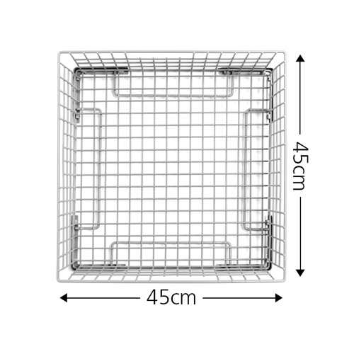 45cm glass basket with measurements