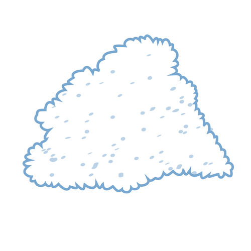 Granular ice icon