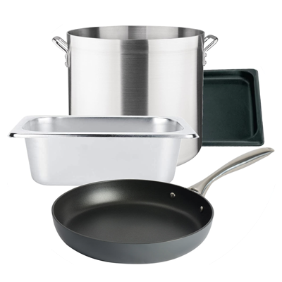 Large pots and pans
