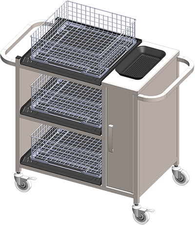 Clenaware Systems - Collection Trolley